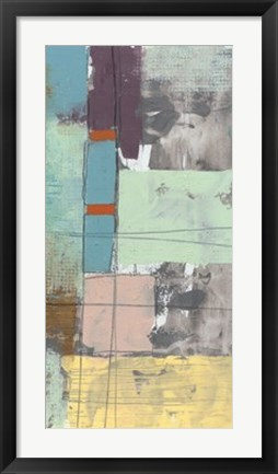 Framed Pastel City IV Print