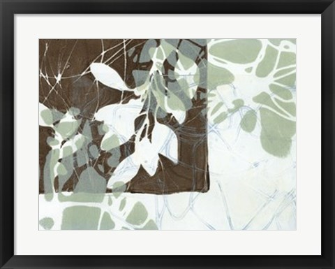 Framed Leaf Inclusion III Print