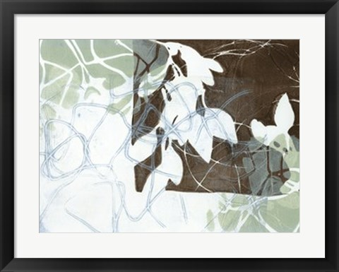 Framed Leaf Inclusion IV Print