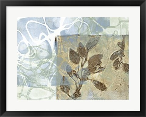 Framed Leaf Inclusion VI Print