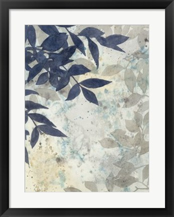 Framed Aquarelle Shadows I Print