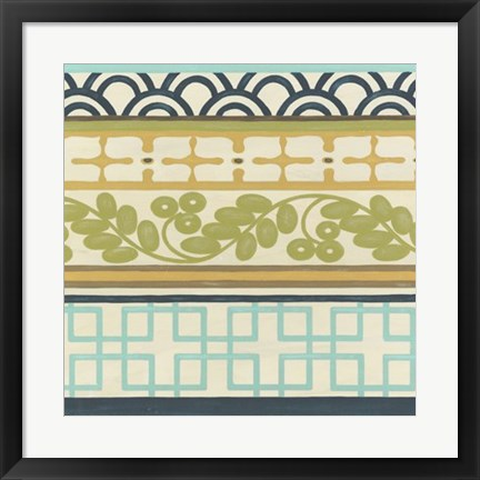 Framed Non-Embellished Geometric Frieze II Print