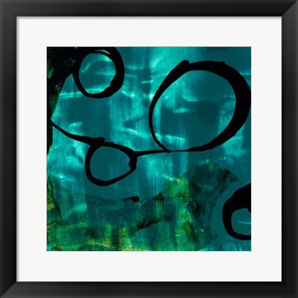 Framed Turquoise Element II Print