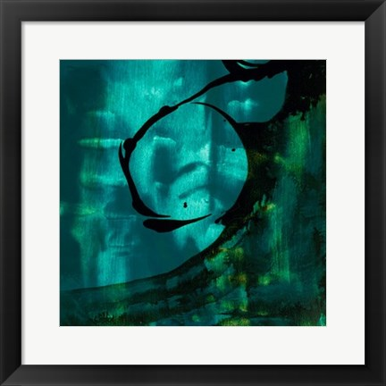 Framed Turquoise Element III Print