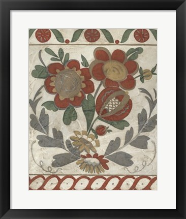 Framed Tudor Rose II Print