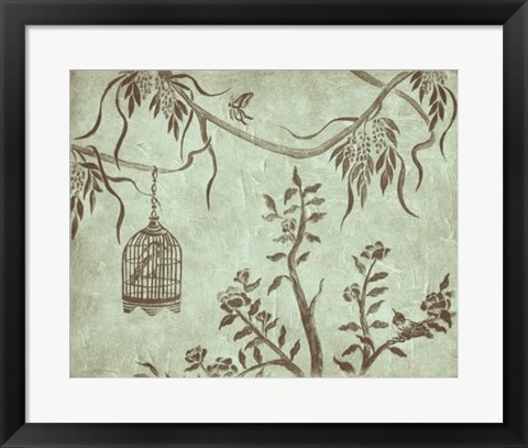 Framed Peaceful Garden III Print