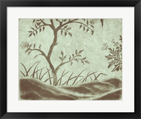 Framed Peaceful Garden IV Print