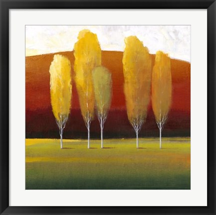 Framed Glowing Trees II Print