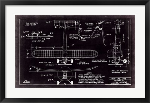 Framed Aeronautic Blueprint VII Print