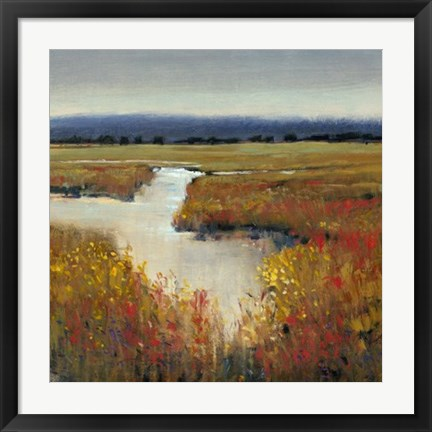 Framed Marsh Land I Print