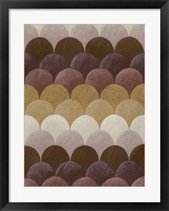Framed Plum Orchard II Print