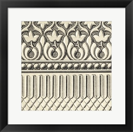 Framed Ornamental Tile Motif V Print