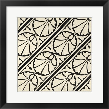 Framed Ornamental Tile Motif VI Print