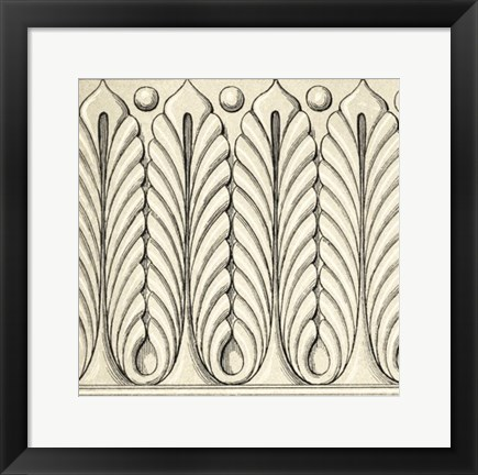 Framed Ornamental Tile Motif IX Print
