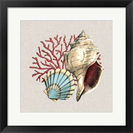 Framed By the Seashore II Print
