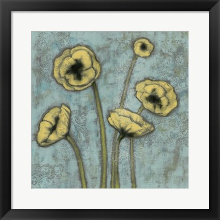 Framed Sun Poppies I Print