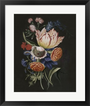 Framed Dramatic Bouquet II Print