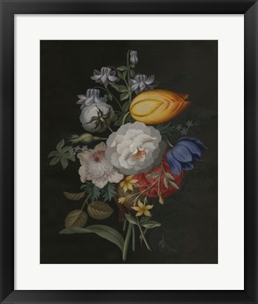 Framed Dramatic Bouquet III Print