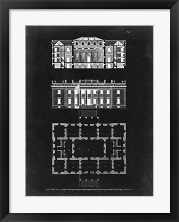 Framed Graphic Building & Plan VI Print
