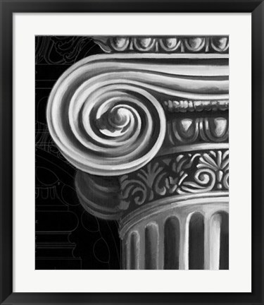 Framed Ionic Capital Detail II Print