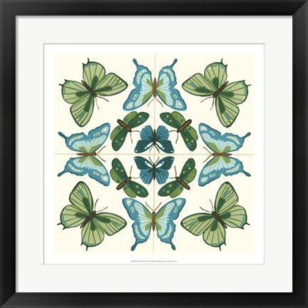 Framed Butterfly Tile III Print