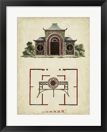 Framed Garden Follies IV Print