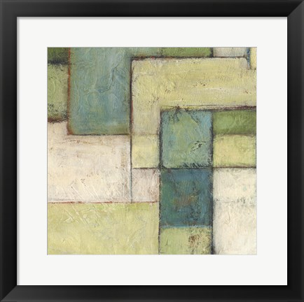 Framed Green Space IV Print