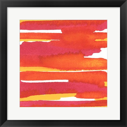 Framed Sunset on Water II Print
