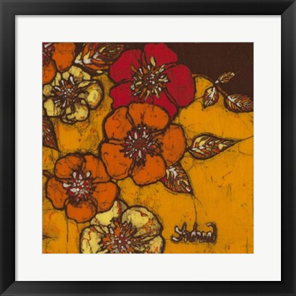 Framed Fire Bloom III Print