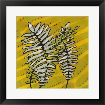 Framed Gold Batik Botanical II Print