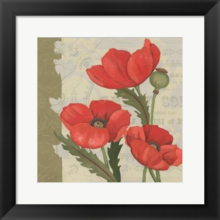 Framed Paris Poppy I Print