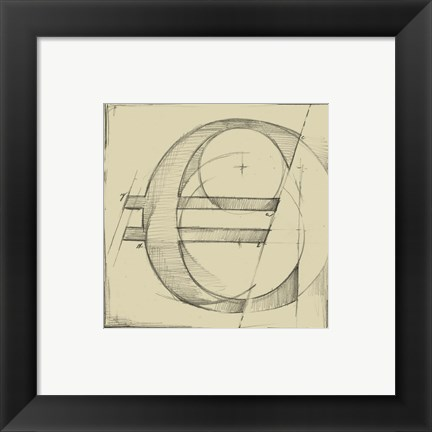 Framed Drafting Symbols VII Print