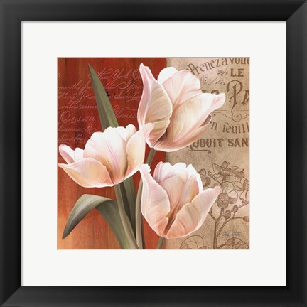 Framed French Tulip Collage II Print