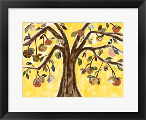 Framed Yellow Orange Tree Print
