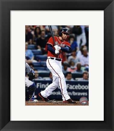 Framed Freddie Freeman 2013 Action Print