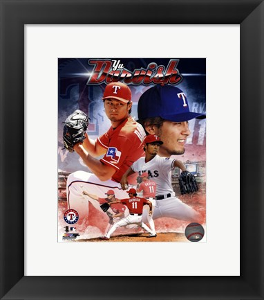 Framed Yu Darvish 2013 Portrait Plus Print