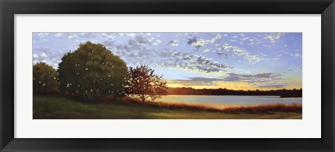 Framed Lakeside Sunrise Print