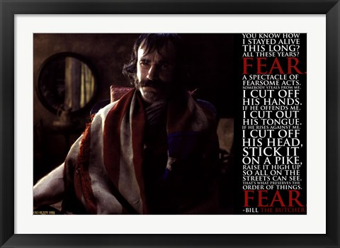 Framed Gangs of New York - Bill the B Print