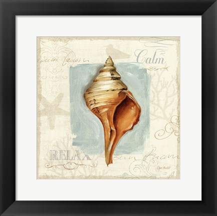 Framed Coastal Jewels I Print