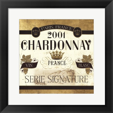 Framed Wine Labels II Print