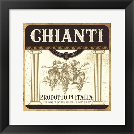 Framed Wine Labels III Print