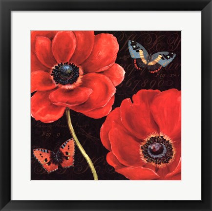 Framed Petals and Wings II Print