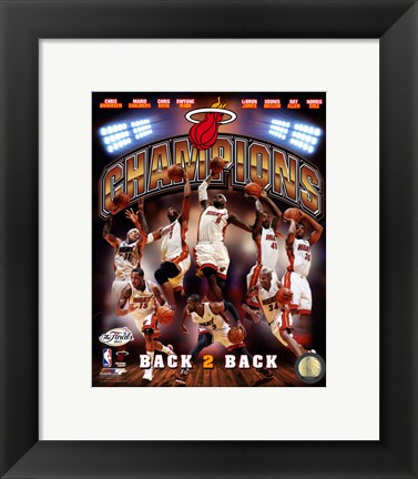 Framed Miami Heat 2013 NBA Champions Composite Print