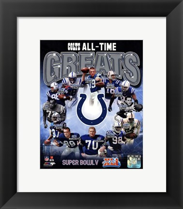 Framed Indianapolis Colts All Time Greats Composite Print