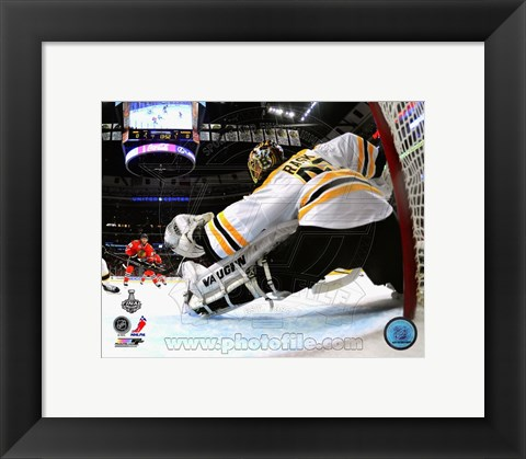 Framed Tuukka Rask Game 2 of the 2013 Stanley Cup Finals Action Print