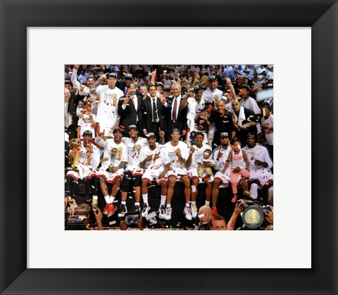 Framed Miami Heat Celebrate Winning Game 7 of the 2013 NBA Finals Print