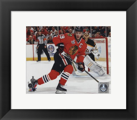 Framed Jonathan Toews Game 5 of the 2013 Stanley Cup Finals Action Print