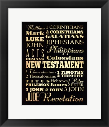 Framed New Testament Print