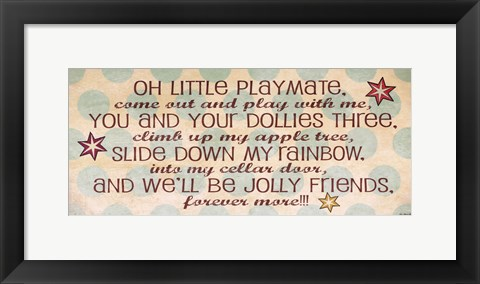 Framed Little Playmate Print