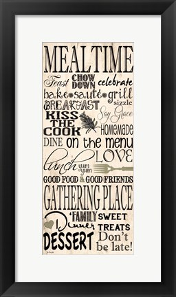 Framed Mealtime Print